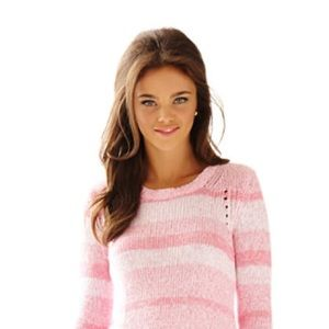 Lilly Pulitzer TABITHA pink ombré sweater Large
